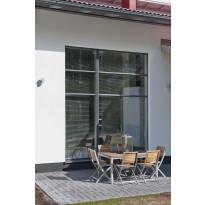 Pihla Termo Kiinteä, 3 lasinen puualumiini-ikkuna, B-malli, 2-osainen