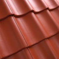 Kattotiili Exklusiv, 1-kouruinen, Pintakäsitelty, punainen