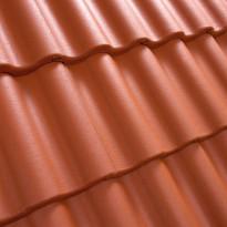 Kattotiili Palema, 2-kouruinen, pintakäsitelty, tiilenpunainen