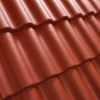 Kattotiili Palema, 2-kouruinen, pintakäsitelty, punainen