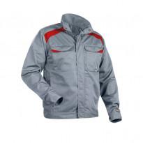 Takki 4054, harmaa/punainen, 65% polyesteri/35% puuvilla 240 g/m²