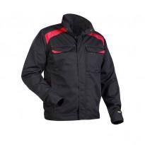 Takki 4054, musta/punainen, 65% polyesteri/35% puuvilla 240 g/m²