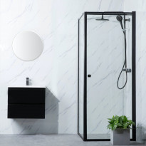 Suihkunurkka Bathlife Profil, 700-1000mm, musta, eri kokoja