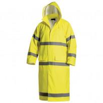 Pitkä sadetakki Highvis 4325, keltainen