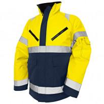 Talvitakki Highvis 4827, keltainen/mariininsininen
