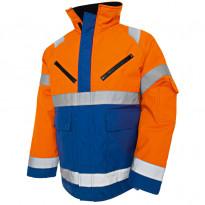 Talvitakki Highvis 4827, oranssi/keskisininen