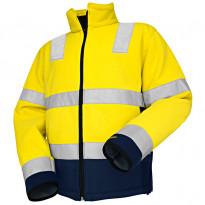 Fleecepusero Highvis 4839, keltainen/mariininsininen
