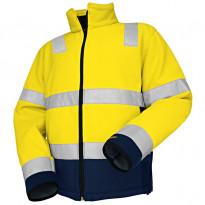 Fleecepusero Highvis 4849, keltainen/mariininsininen
