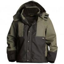 Puutarhurin takki 4854, army green/musta