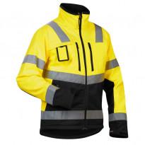 Softshelltakki Highvis 4900, keltainen/musta