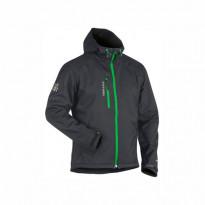 Softshelltakki 4949, tummanharmaa/vihreä