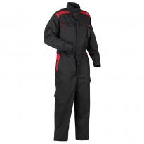 Haalari 6054, musta/punainen, 65% polyesteri/35% puuvilla 240 g/m²