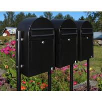 Postilaatikon ryhmäasennusjalusta Link, 150cm, musta
