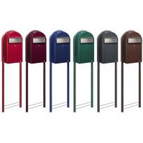 Postilaatikon jalusta Round, 165x41cm, punainen tai vihreä