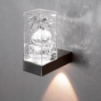 Kristalliseinävalaisin Toive LED, 2x1W, kirkas