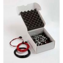 Valaisinpaketti Kristalli LED 9 Kit, lämmin, kulta