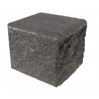 Citymuurikivi lohko puolikas, musta 180x180x150mm