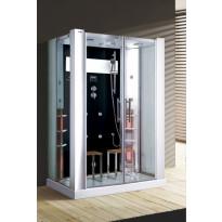 Infrapuna-höyrysauna ja hierova suihkukaappi Maestro Regal 22B, 145x90x215cm, musta