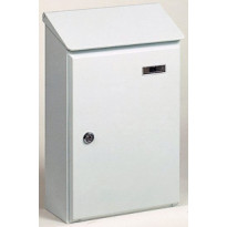 Postilaatikko Picardie 4, 260x395x120mm, galvanoitu teräs, valkoinen