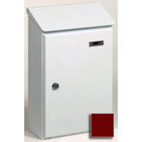 Postilaatikko Picardie 4, 260x395x120mm, galvanoitu teräs, ruskea