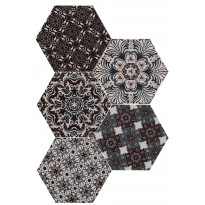 Keraaminen laatta Qualitystone Hexagon Decor, 175 x 175 mm