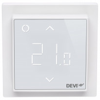 Yhdistelmätermostaatti DEVIreg Smart, kirkkaan valkoinen