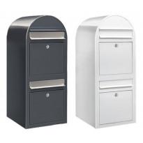 Postilaatikko Duo 80x32x35cm, valkoinen tai harmaa, kampanjatarjouksena nimikyltti kaupan päälle!