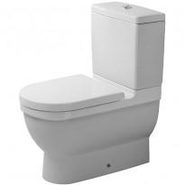 WC-istuin Starck 3, piiloviemäri, ilman kantta ja vesisäiliötä, 390x655mm