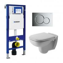 Seinä WC-paketti Duravit D-code, Geberit Duofix 112