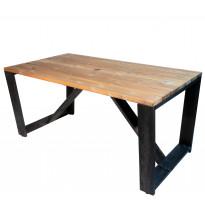 Pöytä EcoFurn Jussi 160cm, musta/ruskea