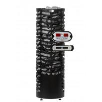Sähkökiuas Hehku Econ, 6.6kW, 6-10m³, erillinen ohjaus, musta