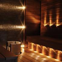 LED-saunavalosarja FTLight Saunaset Premium, 9 osaa, 3000K, messinki