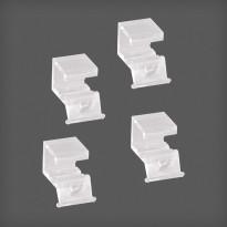 Korinpysäytin lankakoreille Elfa Classic 15x22x20mm, 4 kpl läpikuultava