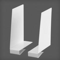 Kirjatuki levyhyllyyn Elfa Classic 153x53x200mm, pari vasen ja oikea valkoinen