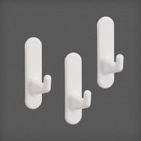 Lyhyt koukku Elfa Utility Home 40mm, 3 kpl valkoinen