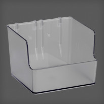 Korkea laatikko Elfa Utility Home 112x80x110mm, läpinäkyvä