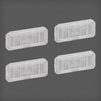 Nimilaput Elfa Utility Home 49x22x8mm, 4 kpl läpinäkyvä