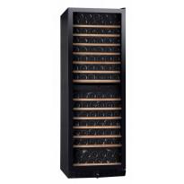 Kahden lämpötilan viinikaappi Dunavox DX166428DBK, 595x1770x680mm, musta tai ruostumaton teräs