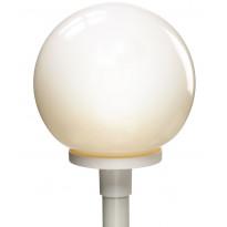 Pylväsvalaisin Opaalipallo + pylväs 1,5 m, valkoinen