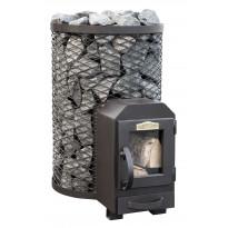 Puukiuas Stoveman 13 R LS, lasiluukulla, seinan läpi lämmitettävä (6-13m³)
