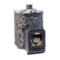Puukiuas Stoveman Heavy 24-LS, lasiluukulla, seinän läpi lämmitettävä (19-24m³)