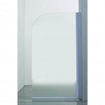 Kääntyvä suihkuseinä, 50x190cm, kiiltävä alumiiniprofiili, savulasi