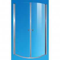 Suihkukulma, puolipyöreä, 80x80x190cm, kirkas lasi