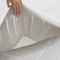 Muotoonommeltu lakana, Twill, valkoinen, 90x200