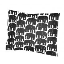 Tyynyliina Elefantti, musta, 55x65cm