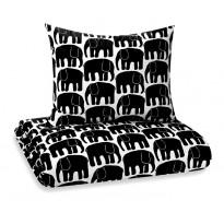 Pussilakana Elefantti, musta, 240x210