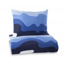 Pussilakanasetti Aalto, sininen/valkoinen, 150x210
