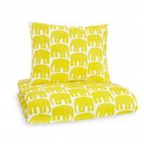 Pussilakanasetti Elefantti, keltainen, 150x210