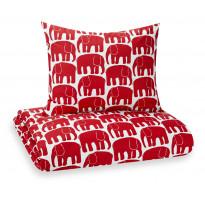 Pussilakanasetti Elefantti, punainen, 150x210