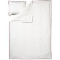 Satiinipussilakanasetti Finlayson Amelie, 150x210 + 50x60 cm, punainen/valkoinen